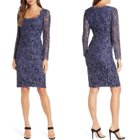 NWT Eliza J Lace Long Sleeve Sheath Dress
